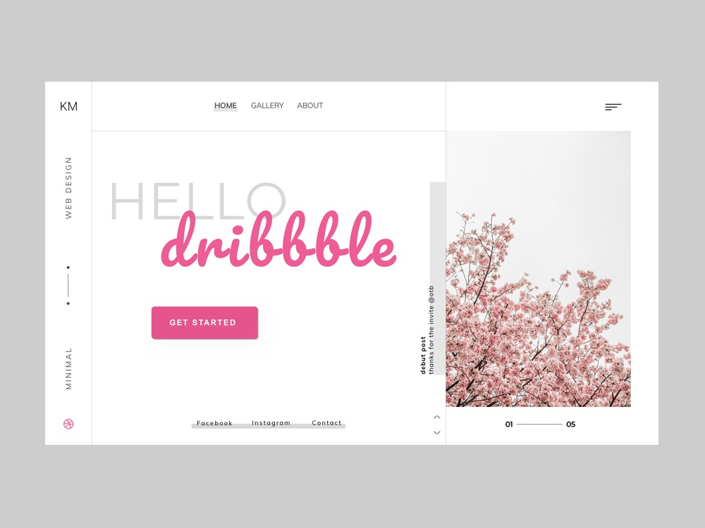 Hello Dribbble hello world web development debut hello dribbble web ux typography design