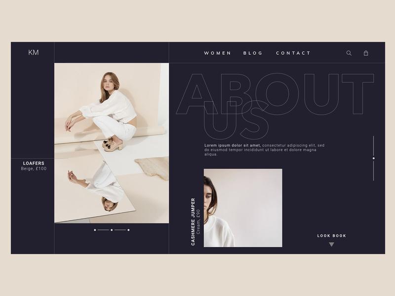 Dark clothing site clothing fashion webdesign web development web ux typography design