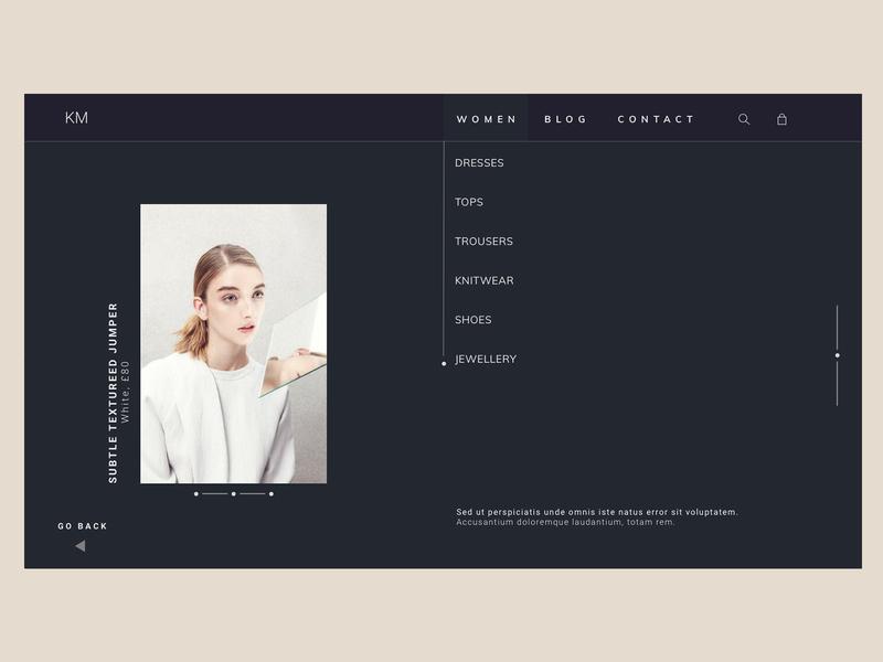 Dark clothing site #2 fashion clothing web ux typography design