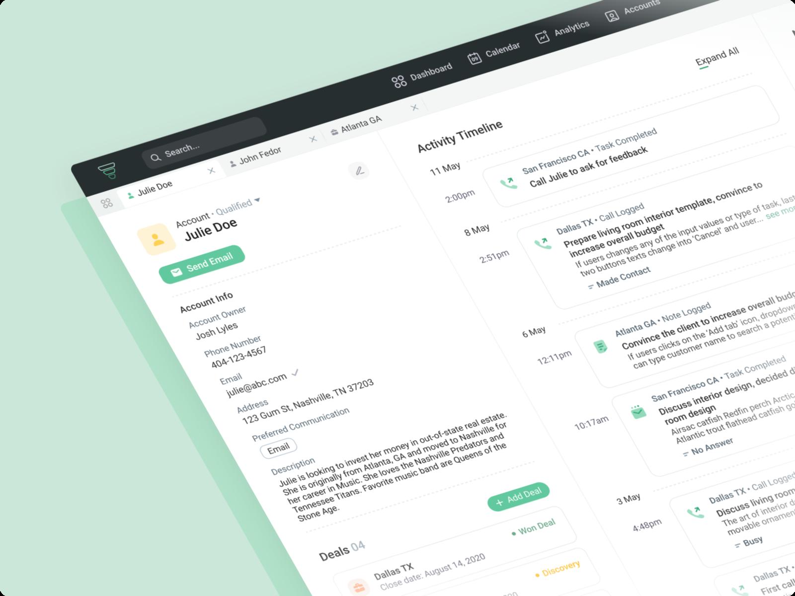 CRM Customer Profile