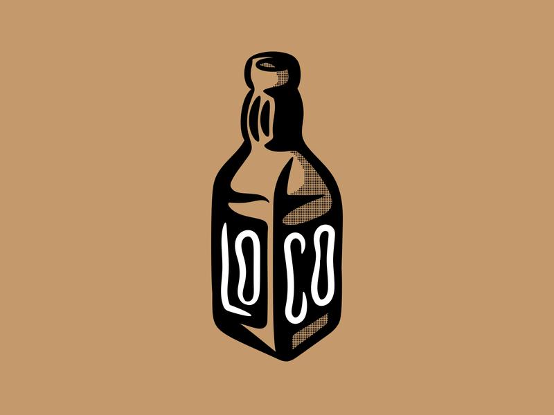 Βottoms up Loco! illustration food logo branding daily clean flat vector digitalart design