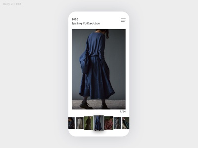 Daily UI Challenge #072 - Image Slider - Take2 lookbook apparel image slider ui daily ui dailyui