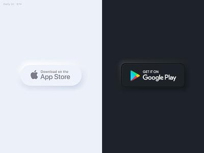 Daily UI Challenge #074 - Download App - Take2 daily ui download dailyui neumorphism