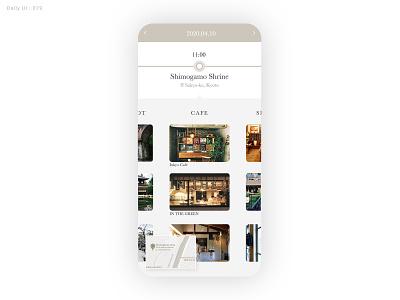 Daily UI Challenge #079 - Itinerary - Take2 travel itinerary daily ui dailyui