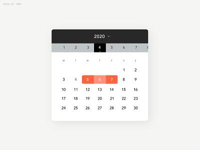 Daily UI Challenge #080 - Date Picker - Take3 datepicker calendar daily ui dailyui