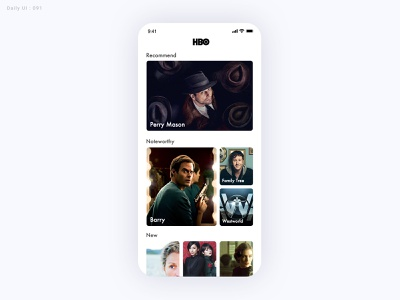 Daily UI Challenge #091 - Curated for You - Take2 curation movie ui daily ui dailyui