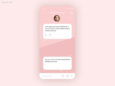 Daily ui #013 - Direct Messaging - Take2