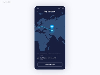 Daily UI Challenge #020 - Location Tracker -Take2