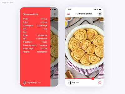 Daily UI Challenge #040 - Recipe recipe 040 ui daily ui dailyui