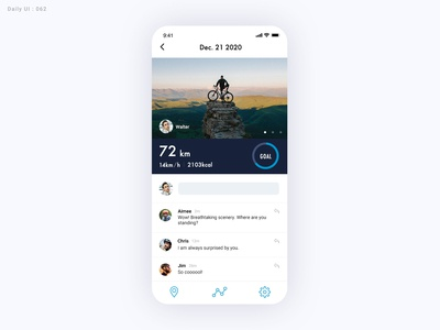 Daily UI Challenge #062 - Workout of the Day