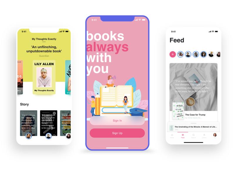 Book Store uidesign ui  ux illustraion flat design ui ios apple app