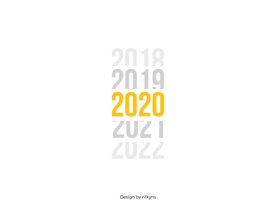 2020 new year typography design