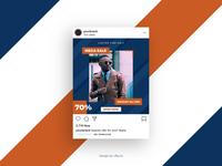 Social Media Sale Promotion Banner Template