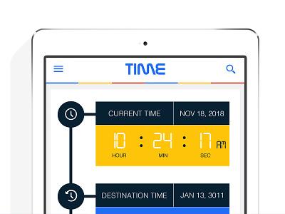 Time Travel App native ios hi-fidelity wireframes time travel