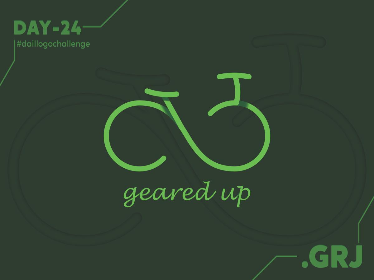 Challenge 24 logotype dailylogochallenge vector icon flat logo challenge branding brand illustrator minimal logo logo design concept illustration design pedals pedal bicycles bicycle cycle cycles