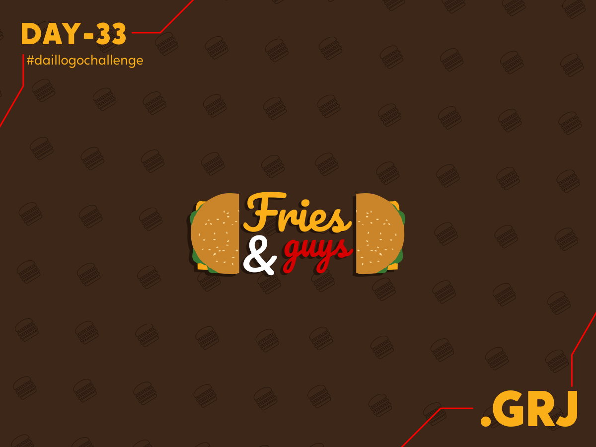 Fries   Guys Challenge 33 illustrator logo design concept logo illustration design mustard sauce type art logo mark logomark mark icon tacos fast food pizza fries burgers burger food food logo