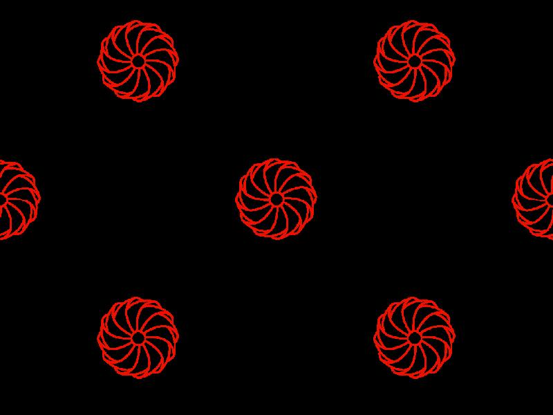 Pin-wheel Pattern designed pattern red vector stroke minimal art minimal line illustrator illustration icon font flat design curves colors brush black art
