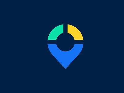 Track Location App icon app marketing mapping map track location clean minimal symbols mark app icon web logo logos symbol company logo simple logo design icon branding logo