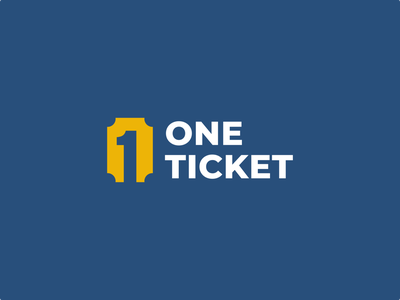One Ticket app branding design concept event professional mark one ticket clean minimal app icon web logo logos symbol company logo simple logo design icon branding logo