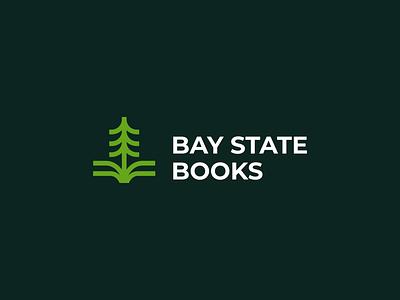 Bay State Books professional logo clean book logo bio enviroment book leaf tree minimal mark app icon web logo logos symbol company logo simple logo design icon branding logo