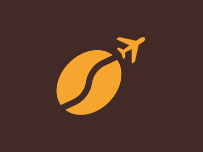 Inflight Logo branding design simple logo modern logo professional logo clean coffee bean coffee flight coffee logo agency logo minimal mark web logo symbol company logo simple logo design icon branding logo