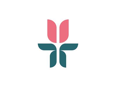 Flower Logo flat logo mark women logo feminine brand logo clean flower rose rose logo flower logo minimal mark logos symbol company logo simple logo design icon branding logo