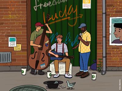 a hungry dream music graphic illust picture ipaddrawing drawing graphicdesign design bbanskim illustrator illustraion