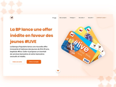landing page for bank camany new's offer