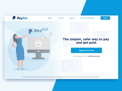 Redesign for Paypal landing page