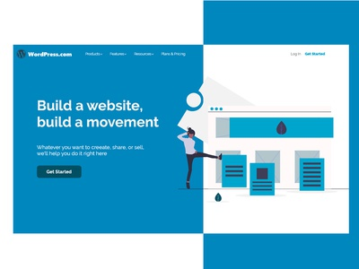 Wordpress redesign landing page