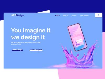 App design front page