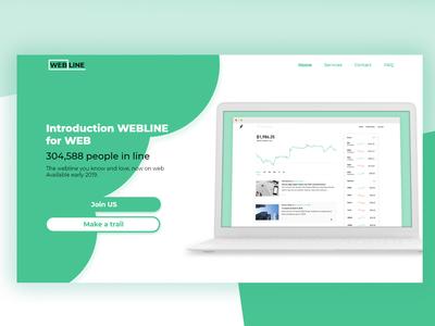 Web statistics landing page