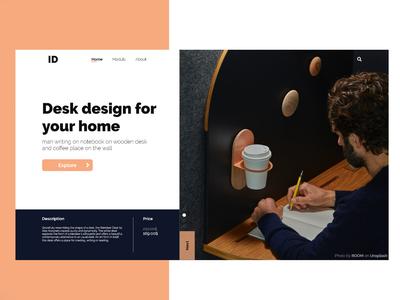 Desk design for home