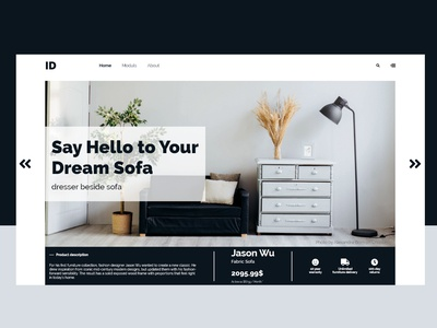 home page for sofa design stor