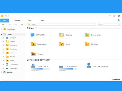 File-Explore Simple redesign Lightmode
