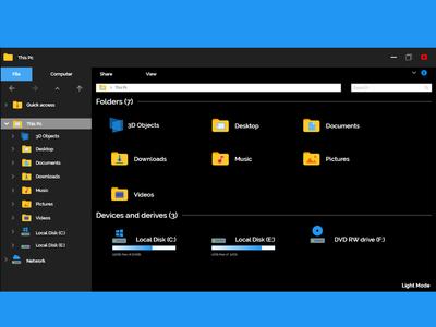 File-Explore Simple redesign Darkmode