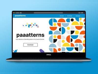redesign paaatterns landing page