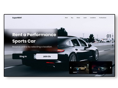 Landing page for rent agency