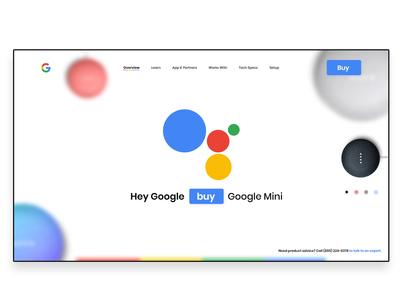 Google home mini landing page