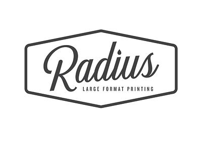 Radius green bay wisconsin printing branding vector ink logotype design logo