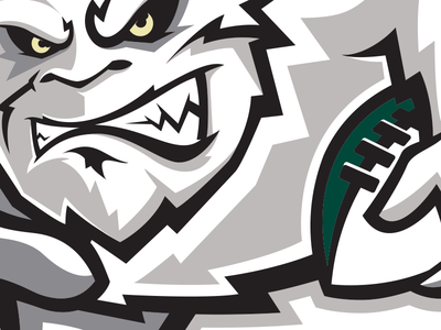 Bruiser WIP logo sports football wisconsin branding yeti