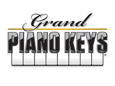 Grand Piano Keys Logo fec brand black and white keys piano arcade tickets redemption games design logo