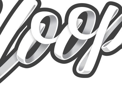 Hoops logotype script lettering shoelace net hoops basketball logo