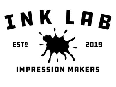 Ink Lab Alt Lockup black lab labrador dog logo ink print digital