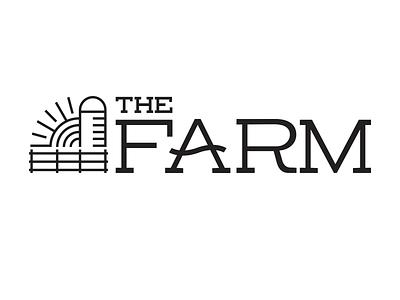 The Farm Logo wisconsin church logo silo sunrise community farm logo design logotype logo