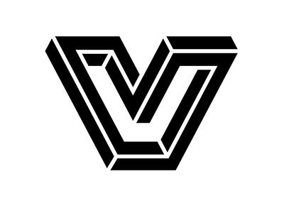 The Village Icon perspective green logo design vector design logo