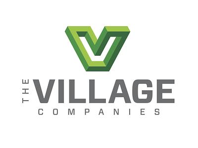 The Village Logo Primary companies perspective green logodesigns vector design logo