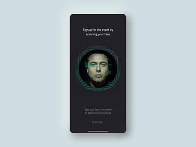 Face detection scan ios freebie interface design detection detector app mobile visual design flat sketchapp ux ui face detection sketch scan face
