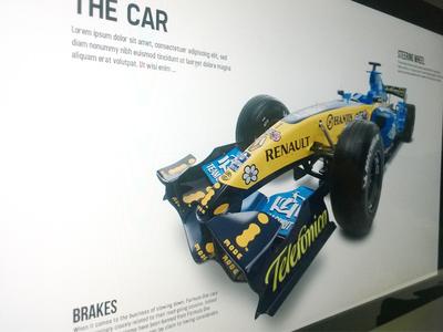 Renault F1 racing microsite