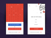 Daily UI #001 - Signup and landing app screen